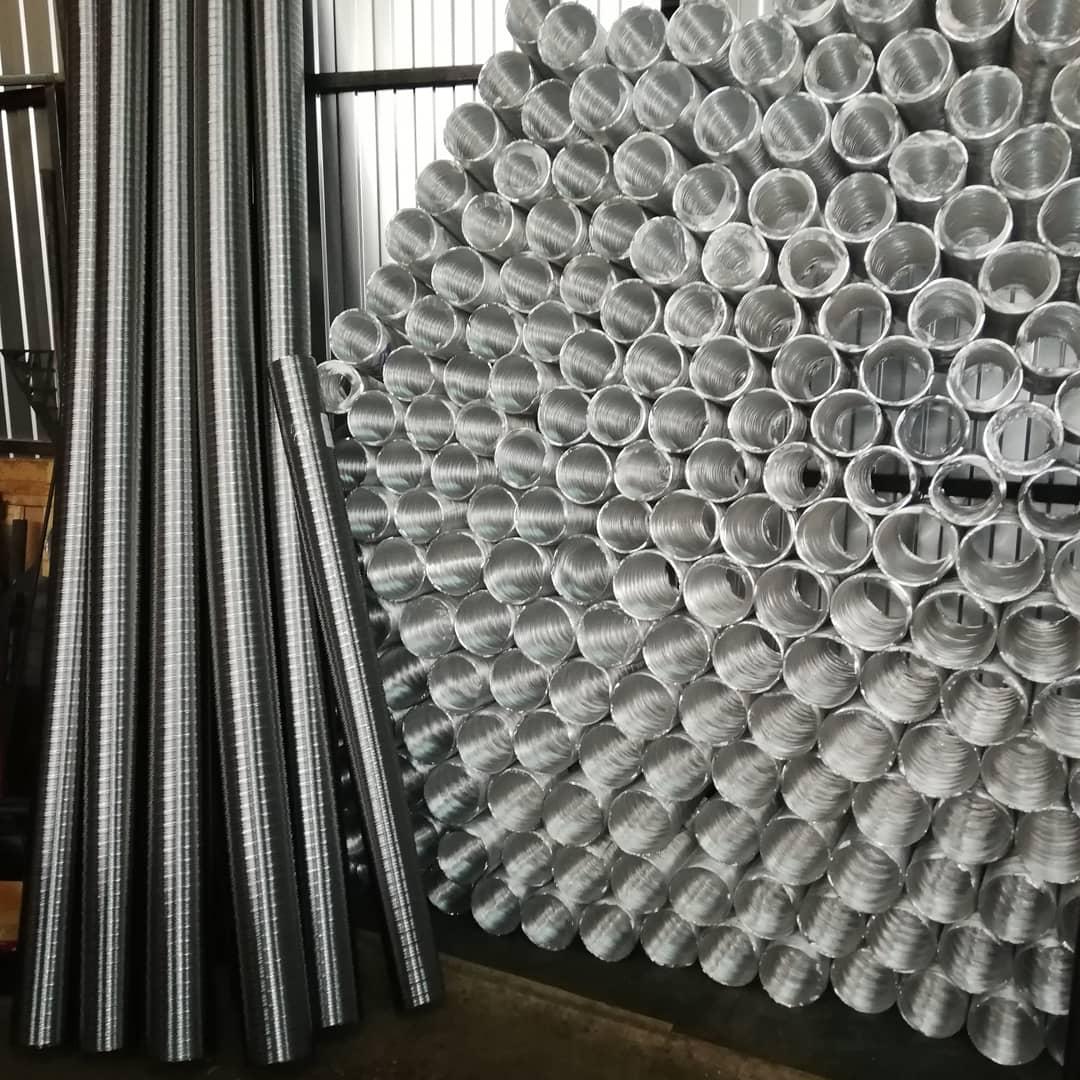 Воздуховоды гофрированные стальные