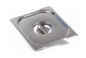 Крышка Luxstahl из нержавеющей стали для GN 1/2 с ручками