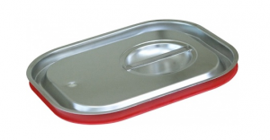 Крышка Luxstahl из нержавеющей стали с уплотнителем для GN 1/2 [812-LRP]
