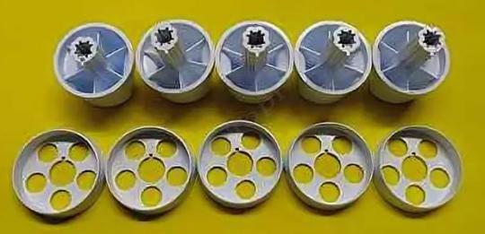 """Комплект ручек для газовой плиты """"DARINA"""" мод. GM141, 241 (белые)"""