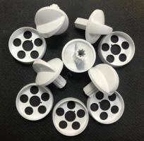 """Комплект ручек для газовой плиты """"DARINA"""" мод. GM442 без термостата (белые)"""