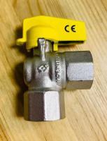 Кран шаровый газовый F.I.V 1/2-1/2 BB бабочка (угловой)
