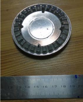 """Крышка горелки """"GEFEST"""" мод. 1100, 3100 (до 2004г.в.) с рассекателем, БМ"""