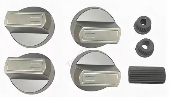 Ручка плиты универсальная, серебро, Spain, комплект 4 штуки