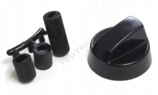 Ручка плиты универсальная, черная Spain, 1 шт
