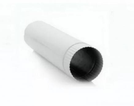 Труба вытяжная, длина 0,2 м, сталь, эмаль