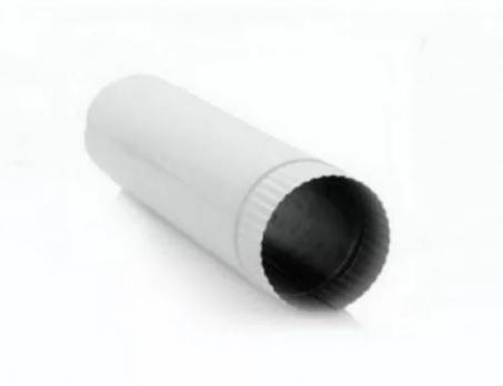 Труба вытяжная, длина 1 м, сталь, эмаль