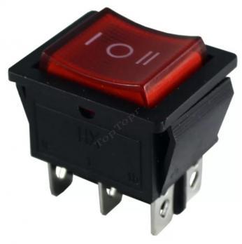 Кнопка одинарная широкая 3 положения 6 контактов