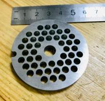 Решетка №2 для мясорубки Braun G1300, G1500, G3000 (Д-53,5/8мм, раб. отв. 4,5мм, inox)