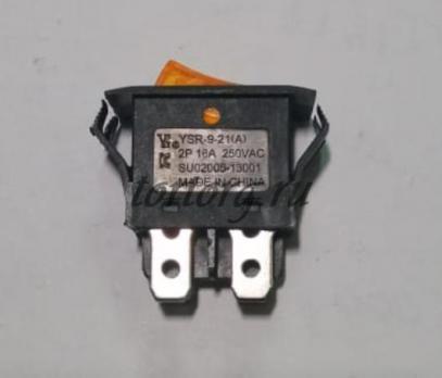 Кнопка 16A/250V с подсветкой черная