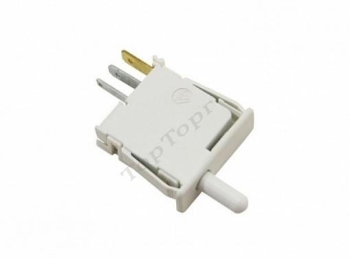 Выключатель света холодильника Bosch белый 3 контакта, длина штока 1,5 см, 0,1А