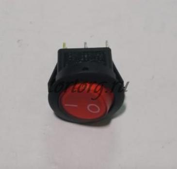 Кнопка круглая 6A 3 контакта, красный