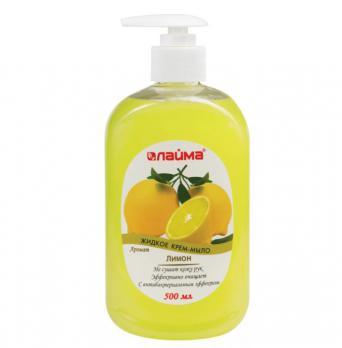 """Мыло-крем жидкое 500 мл, ЛАЙМА """"Лимон"""""""