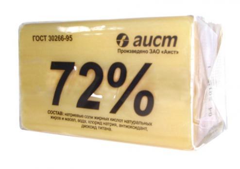 Мыло хозяйственное твердое 72% Аист, 200 гр