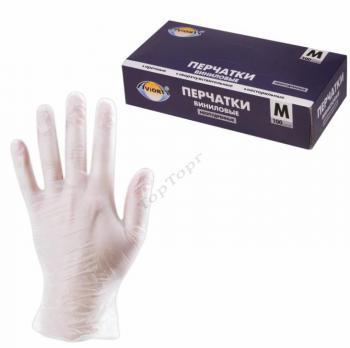 Перчатки виниловые с рукой