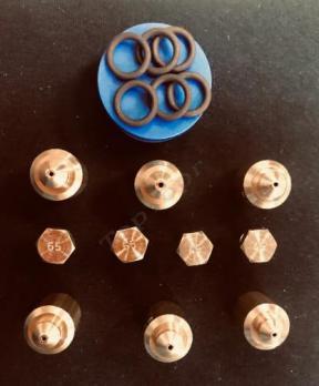"""Комплект жиклёров (форсунок) газовой плиты """"Дарина"""" GM 441, GM 442, с термостатом (природный газ)"""