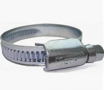 Хомут винтовой, оцинкованная сталь 3/4 (10-19мм.)