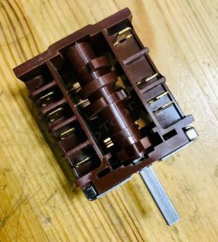 Переключатель ПМЭ27-2359 режимов духовки электро плиты, универсальный, 5 режимов переключения (4 рабочих + 0 нулевой). 2359