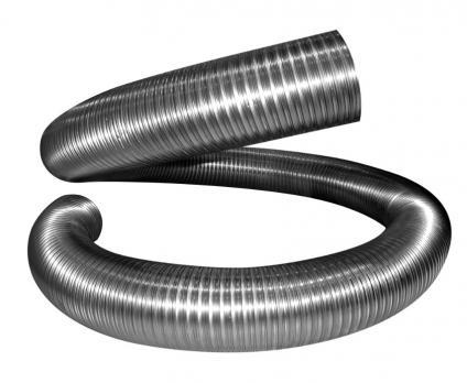 Газоход гофрированный из нержавеющей стали (длина 2 метра)